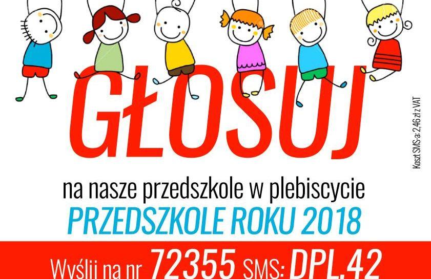 Prosimy o głos na nasze przedszkole…
