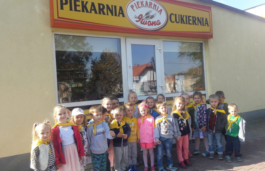Pszczółki z wizytą w Piekarni